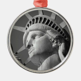 Statue of Liberty Silver-Colored Round Decoration