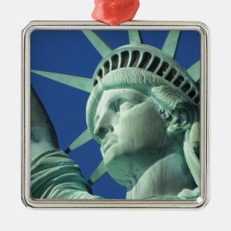 Statue of Liberty Silver-Colored Square Decoration