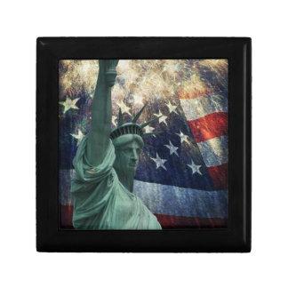 Statue of Liberty Small Square Gift Box