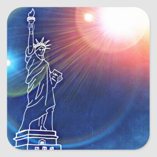 statue-of-liberty square sticker