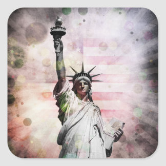 Statue of Liberty Square Sticker
