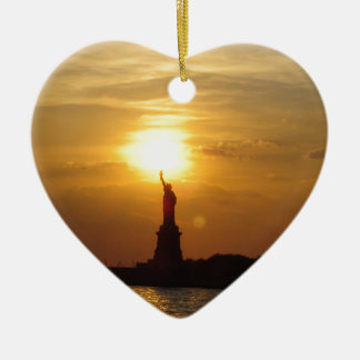 Statue of Liberty Sunset Christmas Ornament