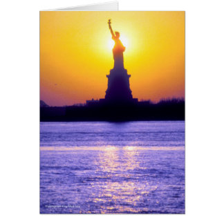 Statue of Liberty Sunset Note Card