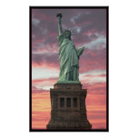 Statue of Liberty / Sunset Poster