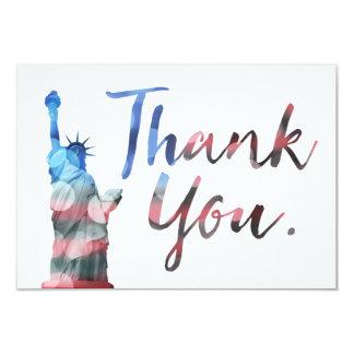 Statue of Liberty Thank You Veterans 9 Cm X 13 Cm Invitation Card
