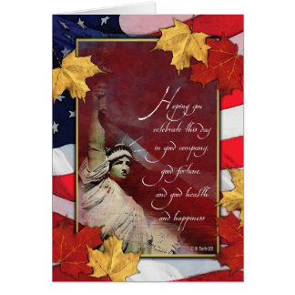 Statue of Liberty Thanksgiving Card