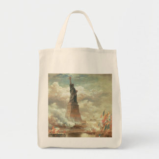 Statue of Liberty Grocery Tote Bag