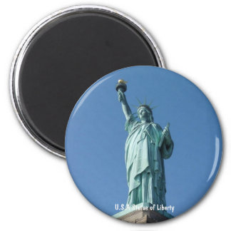Statue of Liberty (U.S.A) Round Magnet