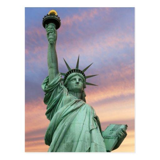 statue of liberty under vivid sky postcards