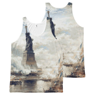 Statue of Liberty Unveiling 1886 All-Over Print Tank Top