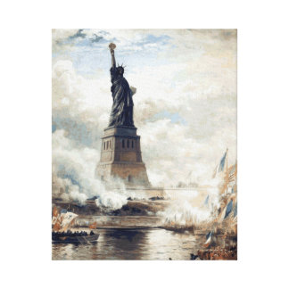 Statue of Liberty Unveiling 1886 Canvas Print