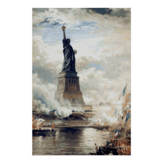 Statue of Liberty Unveiling 1886 Poster