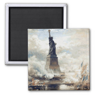 Statue of Liberty Unveiling 1886 Square Magnet