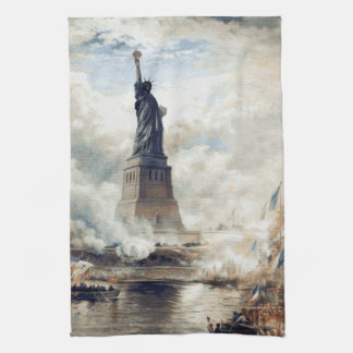 Statue of Liberty Unveiling 1886 Tea Towel