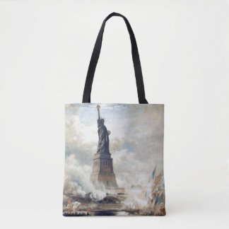 Statue of Liberty Unveiling 1886 Tote Bag