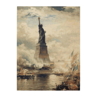Statue of Liberty Unveiling 1886 Wood Wall Decor
