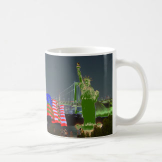 statue of liberty usa flag new york coffee mug
