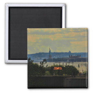 Statue of Liberty Viewed from High Line Park Square Magnet