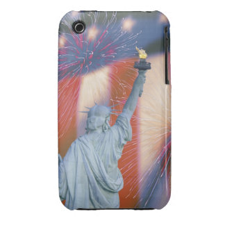 Statue of Liberty with American flag and iPhone 3 Covers