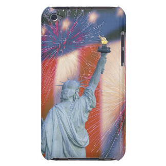 Statue of Liberty with American flag and iPod Case-Mate Cases