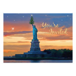 Statue of Liberty with Christmas Tree Invited