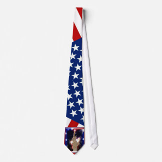 Statue of Liberty with Fireworks for 4th of July Tie