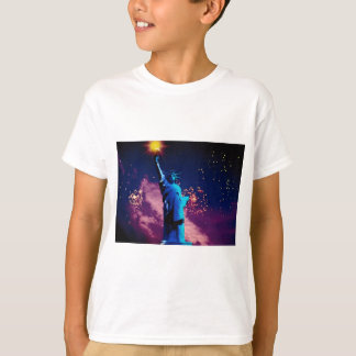 Statue of Liberty with fireworks T-Shirt