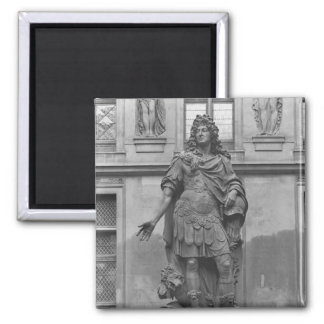 Statue of Louis XIV Square Magnet