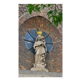 Statue of Mary and Jesus Poster