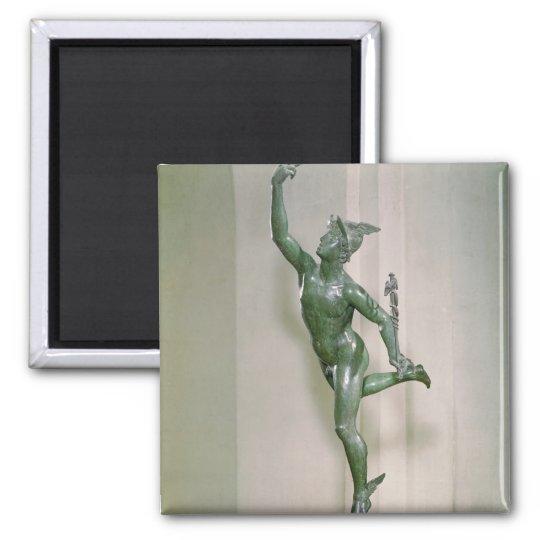 Statue of Mercury Square Magnet