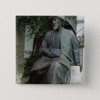 Statue of Moses Maimonides 15 Cm Square Badge