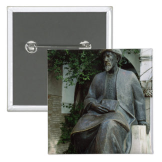 Statue of Moses Maimonides Pinback Buttons