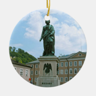 Statue of Mozart in Salzburg Christmas Ornament