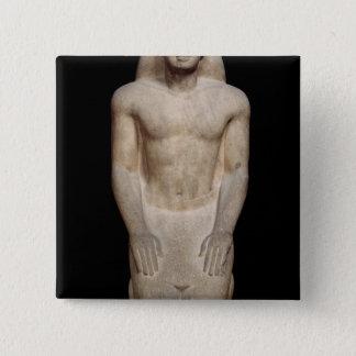 Statue of Nakhtorheb kneeling 15 Cm Square Badge