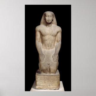 Statue of Nakhtorheb kneeling Poster