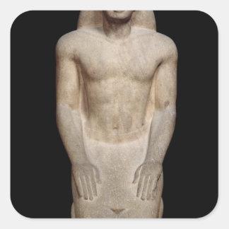 Statue of Nakhtorheb kneeling Square Sticker