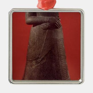 Statue of Napirasu, wife of Elamite King Silver-Colored Square Decoration