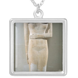 Statue of Nesa, Old Kingdom Silver Plated Necklace