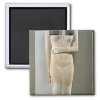 Statue of Nesa, Old Kingdom Square Magnet