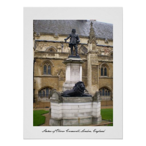 Statue of Oliver Cromwell poster