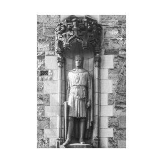 Statue of Robert the Bruce at Edinburgh Castle Canvas Print