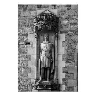 Statue of Robert the Bruce at Edinburgh Castle Poster