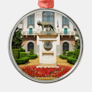 Statue of Romulus and Remus in Mures, Romania Christmas Ornament