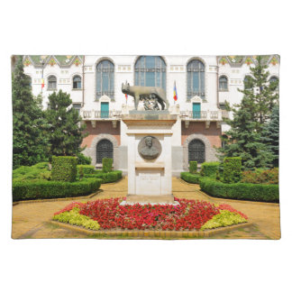Statue of Romulus and Remus in Mures, Romania Placemat