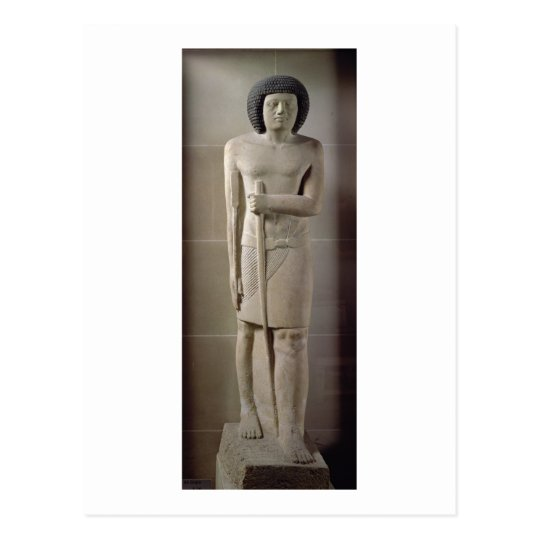 Statue of Sepa, Old Kingdom (painted limestone) Postcard