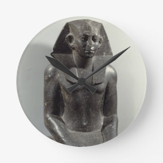 Statue of Sesostris III (1887-49 BC) as a young ma Round Clock