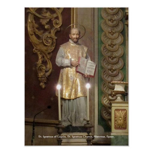 Statue of St. Ignatius of Loyola Poster
