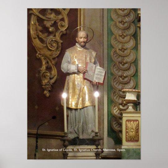 Statue of St. Ignatius of Loyola Poster