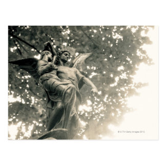 Statue of St Michael, Pere Lachaise Cemetery, Post Card