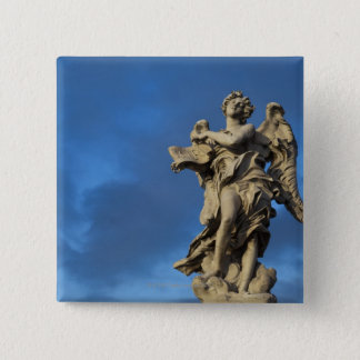 statue of the Angel with superscription on Sant 15 Cm Square Badge